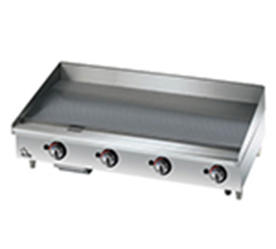 "Star Manufacturing 536CHSF 36"" Griddle - 1"" Chrome Plate, Thermostat Controls, 4-in Legs"