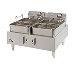 Star Manufacturing 530TEF Countertop Electric Fryer - (2) 15-lb Vat, 208v/1ph