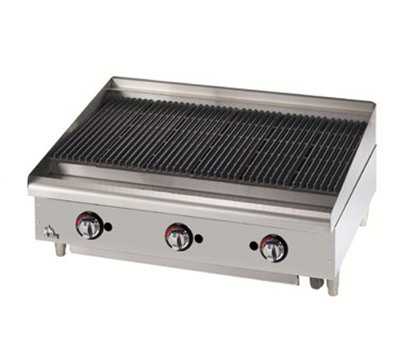 "Star Manufacturing 6024CBF 24"" Charbroiler - Cast Iron Grate, Adjustable Control Valve, NG"