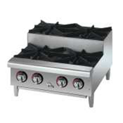 "Star Manufacturing 602HF-SU 12"" Step Up Hotplate - 2-Burners, Manual Controls, NG"