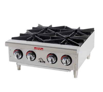 "Star Manufacturing 606HF 36"" Hotplate - 6-Burners, Manual Controls, NG"