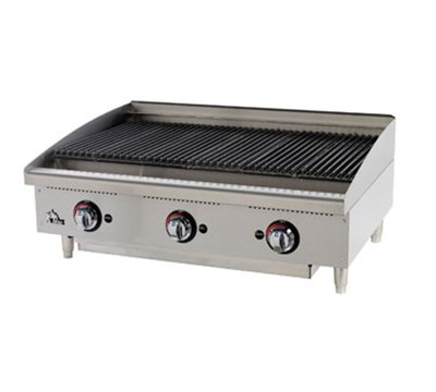 "Star Manufacturing 6136RCBF 36"" Charbroiler - Adjustable Manual Controls, NG"