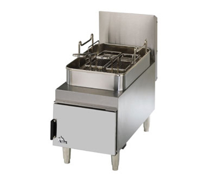 Star Manufacturing 615FF 15-lb Fryer w/ Twin Baskets, Adjustable Heat Controls, NG