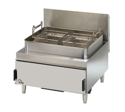 Star Manufacturing 630FF Heavy Duty Countertop Gas Fryer w/ Twin Baskets & 30-lb Fat Capacity, LP