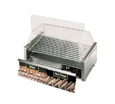Star Manufacturing 75CBBC120 75 Hot Dog Roller Grill w/Bun Storage - Slanted Top, 120v