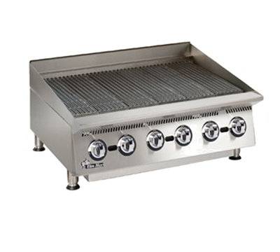 "Star Manufacturing 8036CBA 36"" Lava Rock Charbroiler w/ Manual Controls, NG"