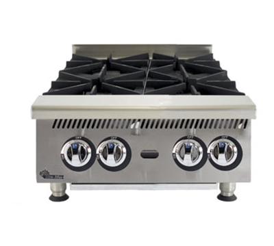 "Star Manufacturing 804HA 24"" Hotplate - 4-Burner, Manual Control, 120000-BTU, NG"