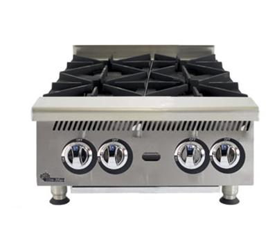 """Star Manufacturing 804HA 24"""" Hotplate - 4-Burner, Manual Control, 120000-BTU, NG"""