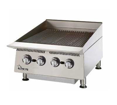Star Manufacturing 8124RCBA 24-in Charbroiler w/ Manual Controls & Steel Radiants, 80000-BTU, NG