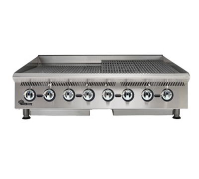 Star Manufacturing 8148RCBA 48-in Charbroiler w/ Manual Controls & Steel Radiants, 160000-BTU, NG