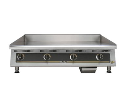 "Star Manufacturing 848TSCHS 48"" Griddle - 1"" Chrome Plate & Snap Action Thermostat, NG"