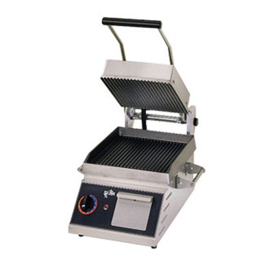 Star Manufacturing CG10IB 2082401 Panini Grill w/ Grooved Plates & Electronic Control, 1800-watts, 208/240/1 V