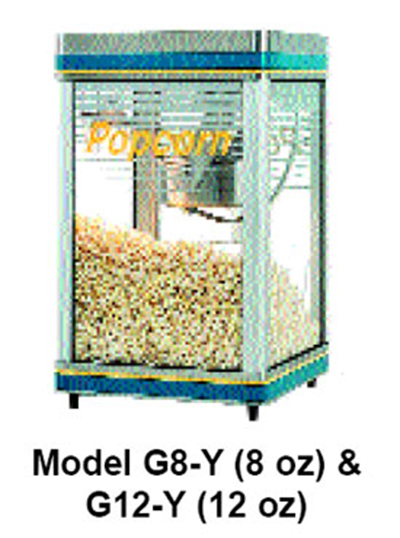 Star Manufacturing G8Y-230 Popcorn Popper, 8-oz Kettle, (170) 1-oz Servings, 230V
