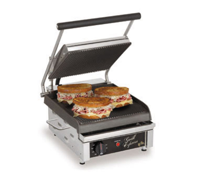 Star Manufacturing GX10IS Two-Sided Grill, 10-in Smooth Cast Iron Plates, 120V