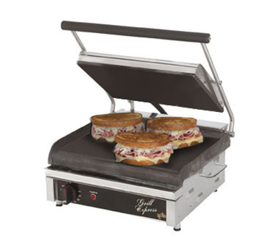 Star Manufacturing GX14IS120 Two-Sided Grill, 14-in Smooth Cast Iron Plates, 120V