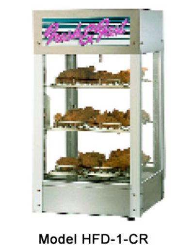 Star Manufacturing HFD1-CR-230 Humidified Display Cabinet 3 Shelf Pizza Rack, Single Door, Export