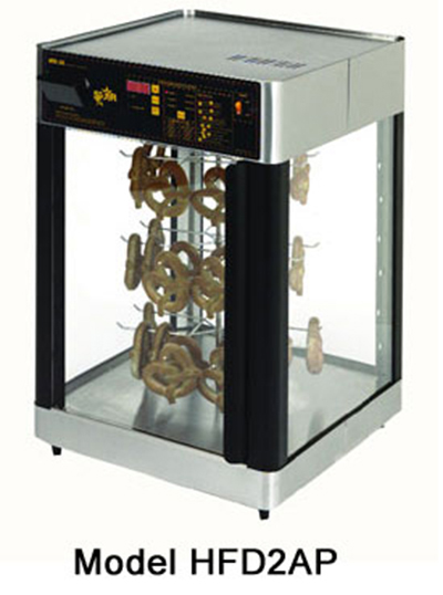 Star Manufacturing HFD2AP-230 Humidified Display Cabinet w/ Pretzel Rack, Single Door, Export