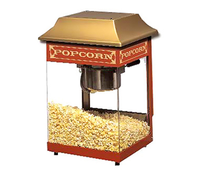 Star Manufacturing J4R-230 Popcorn Popper w/ 4-oz Kettle, (115) 1-oz Servings, Red, Export