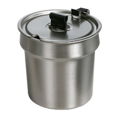 Star Manufacturing SSB4H SS Bowl Inset, W/Hinged Lid, 4 qt, For Star 4RW Model Warmers