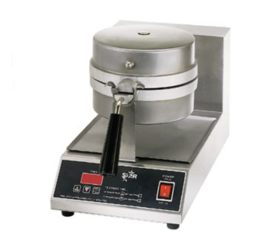 Star Manufacturing SWB8RBLE120 Belgian Waffle Baker, Single, 8 in Round, 1 in Thick Grid, 120 V