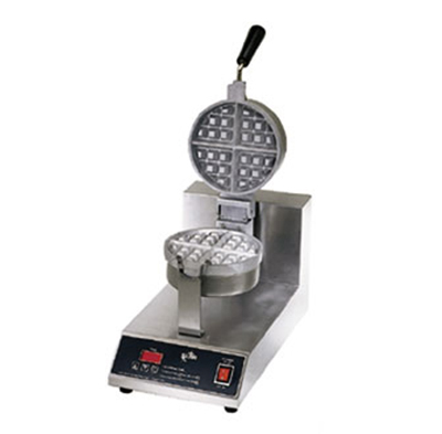 Star Manufacturing SWB7RBE120 Belgian Waffle Baker, Single, 7 in Round, 1-1/2 in Thick Grid, 120 V