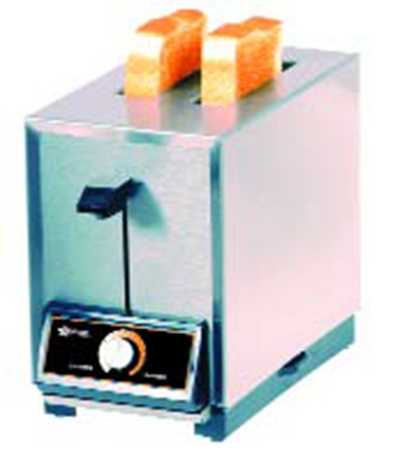 Star Manufacturing T2208240 Pop-Up Toaster, 2 Slice Bread or Bagel, Solid State Timer, 208/240 V