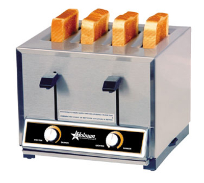 Star Manufacturing T4120 Pop-Up Toaster, 4 Slice Bread or Bagel, Solid State Timer, 120 V