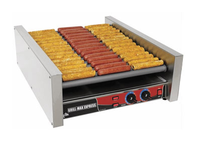 Star Manufacturing X45S 45 Hot Dog Roller Grill - Slanted Top, 120v