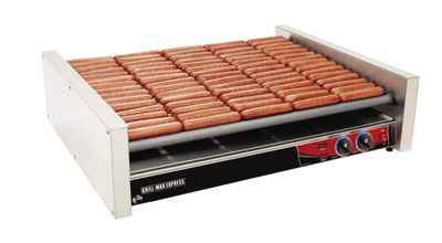 Star Manufacturing X75S 75 Hot Dog Roller Grill - Slanted Top, 240v