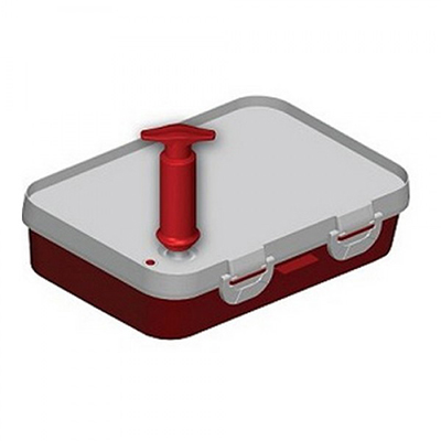 Jaccard 201301 Instant Marinater w/ 5-Liter Capacity & Hinge Stability Bar, 10x14-in, Red/White