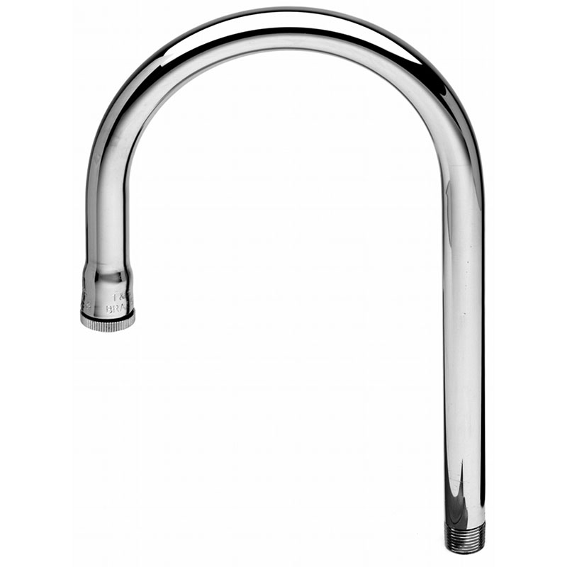 T&S Brass 122X Rigid Gooseneck 8 in High 2-3/4 in Spread Restaurant Supply