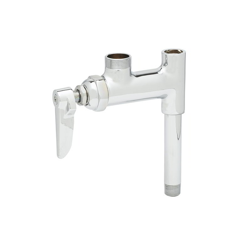 T&S Brass B-0155-01LN Add-On Faucet For Pre-Rinse Units NO Nozzle 3 in Nipple Restaurant Supply