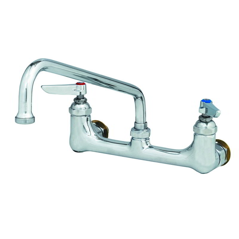 T&S Brass B-0232-CC Sink Mixing Faucet 8 in Centers 6 in Swing Nozzle 1/2 in IPS CC Male In Restaurant Supply