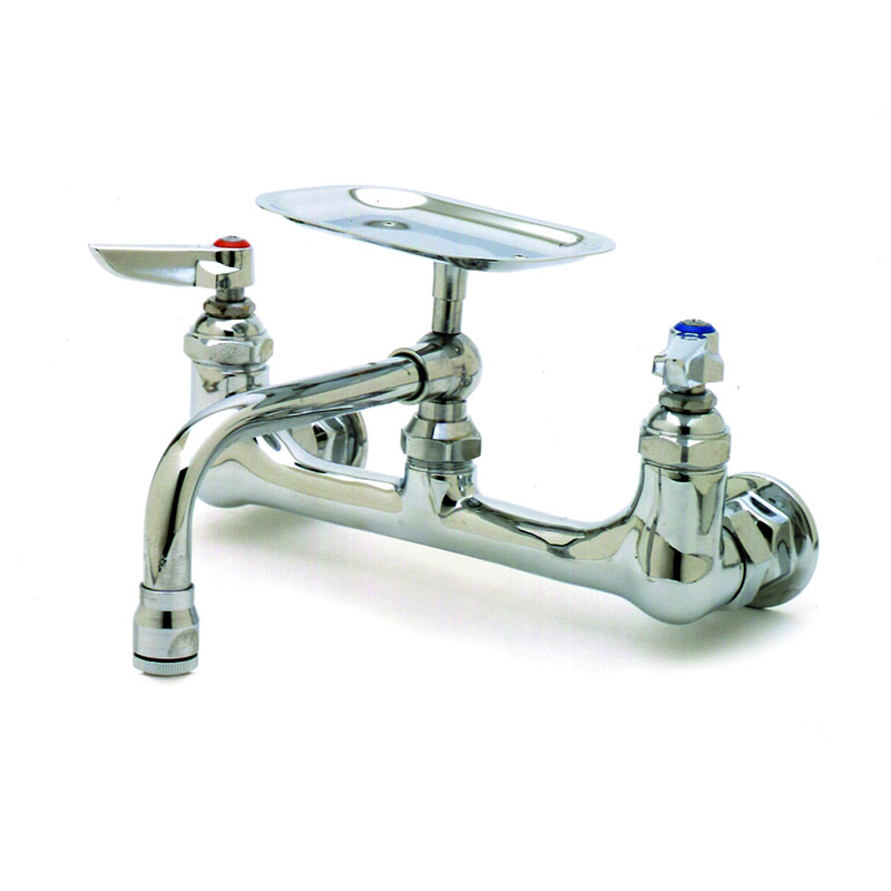 T&S B-0233-01 Sink Mixing Faucet 6 in Soap Dish 8 in Centers Restaurant Supply