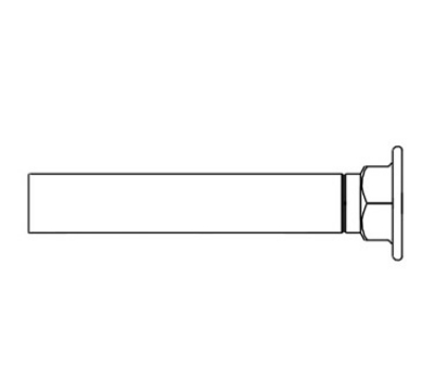 T&S Brass B-0449 Inlet Extension Adds 6-3/4 in to Faucets 1/2 IPS Inlets Restaurant Supply