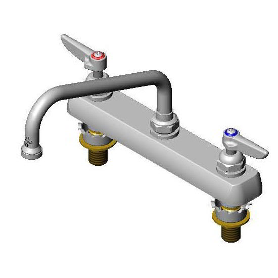 T&S Brass B-1121-XS Faucet 8 in Swing Nozzle Deck Mounted For Thick Surface Restaurant Supply