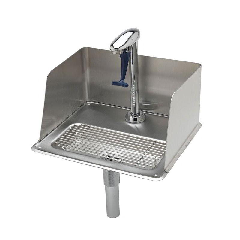T&S Brass B-1235 Water Station w/ Splash Guard, 10.5 in, Push Back Glass Filler