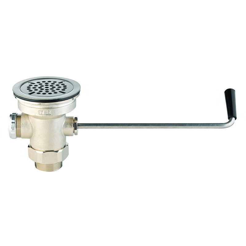 T&S Brass B-3940 Twist Waste Valve, 3 in Sink Opening, 2 in Drain Outlet
