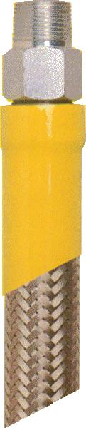 T&S Brass HG-2D-72 Safe-T-Link Gas Connector Hose, 3/4 in NPT x 72 in Long, Male to Male