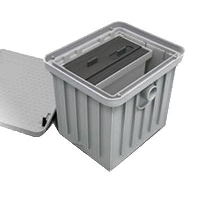 Canplas 3911A-1 Solid Basket Accessory, Removable Dual Screen, Integrated Lifting Handles