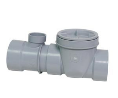 Canplas 3934135AT Threaded Format Flow Control w/ Fittings, Cleanout & Air Intake, 35-GPM, 4-in
