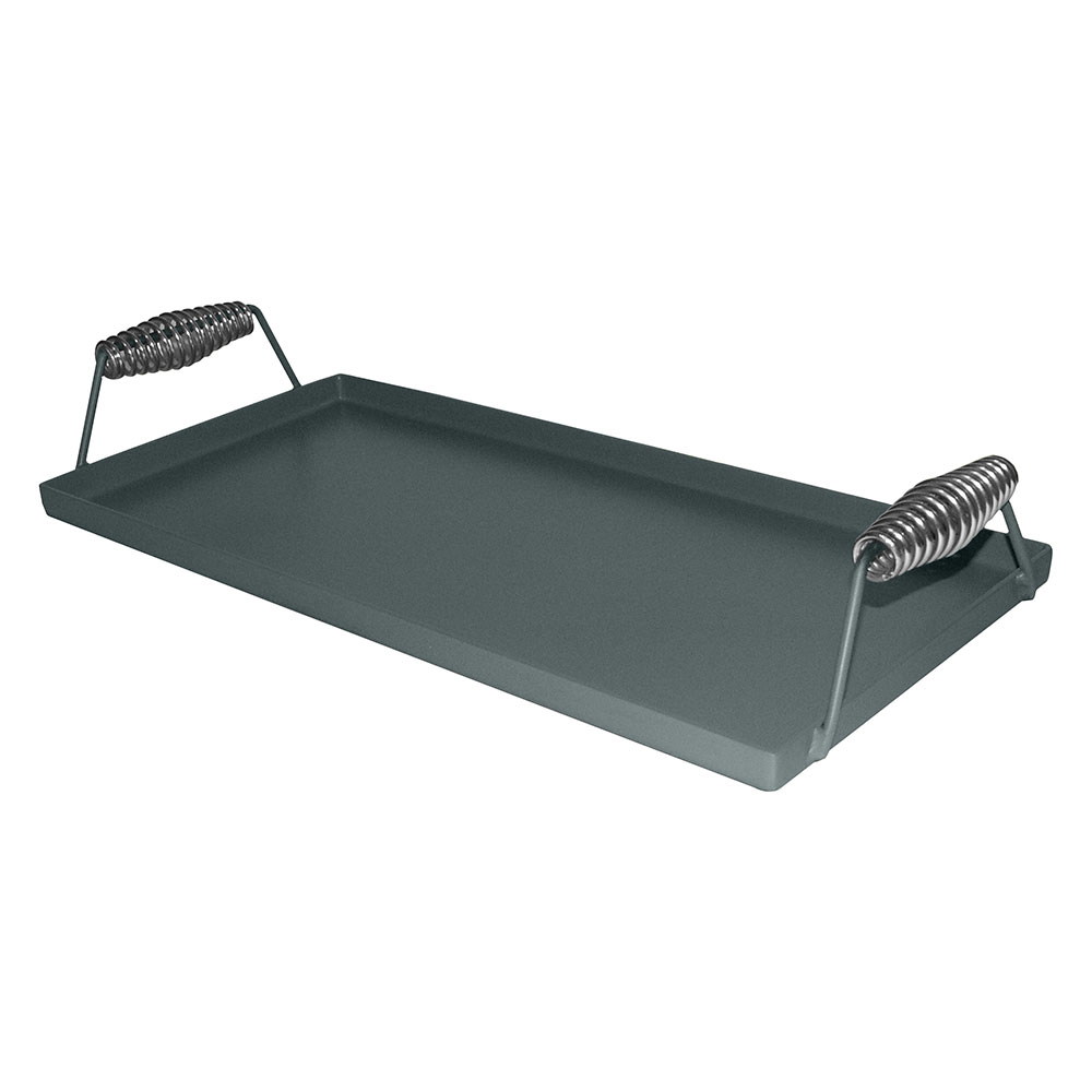 Tomlinson 1020449 Lift-Off Steel Griddle, Fits Two Burners, 22.5 x 10.5 in, Coated Pickeld Steel