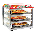 Tomlinson 1023226 Heated Pizza Snack Merchandiser, 3-Shelves, Holds 16-in Pizza