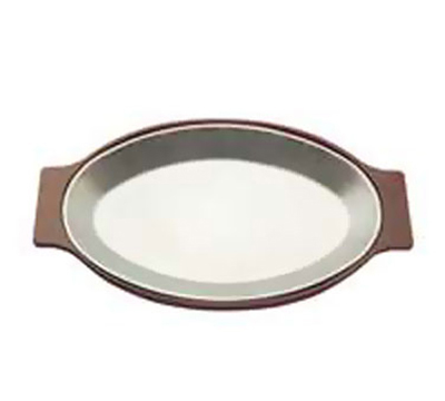 Tomlinson 1006370 Oval Dinner Platter, 8 x 12-in, Burnished Finish