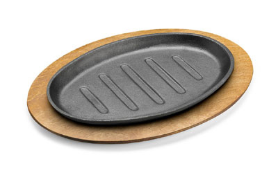 Tomlinson 1023049 Wood Underliner For 11 x 7-in Oval Skillet