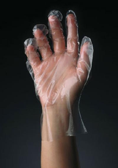 Tomlinson 1036323 Polyethylene Disposable Glove, Large