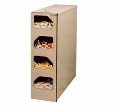 Tomlinson 1003993 High Volume Condiment Dispenser w/ 4-Compartments, Painted Gray, Aluminum