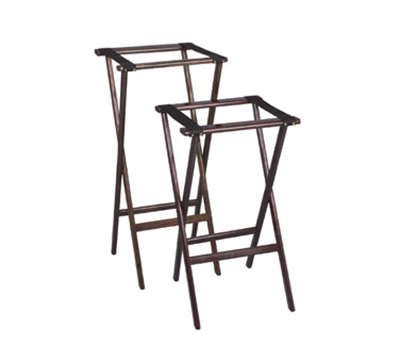 Tomlinson 1017834 38-in Tray Stand, Hardwood w/ Radius Edges & Corners, Black Finish