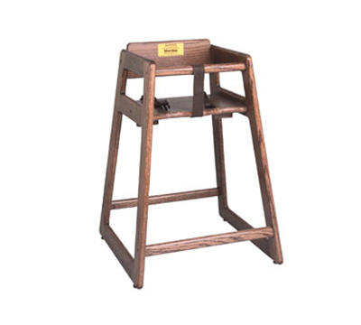 Tomlinson C-30 RM High Chair, .75-in Solid Oak w/ Mo