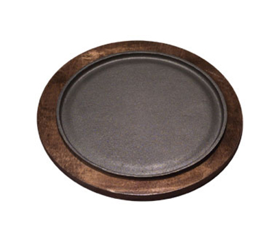 Tomlinson 1016243 Round Serving Griddle Underliner, Birch w/ Walnut Finish